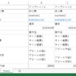 自動入力の内容エクセル